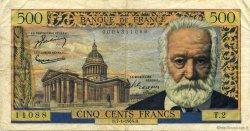 500 Francs VICTOR HUGO FRANCE  1954 F.35.01 TTB