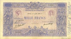 1000 Francs BLEU ET ROSE FRANCE  1926 F.36.43 TB à TTB