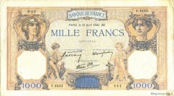 1000 Francs CÉRÈS ET MERCURE type modifié FRANCE  1940 F.38.46 pr.TTB