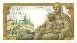1000 Francs DÉESSE DÉMÉTER FRANCE  1942 F.40.11 NEUF