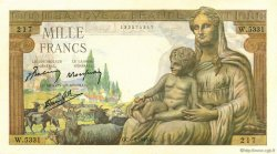 1000 Francs DÉESSE DÉMÉTER FRANCE  1943 F.40.23 SUP+