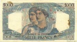 1000 Francs MINERVE ET HERCULE FRANCE  1945 F.41.03 TB
