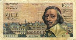1000 Francs RICHELIEU FRANCE  1953 F.42.02 TB