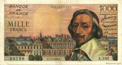 1000 Francs RICHELIEU FRANCE  1956 F.42.19 TTB