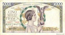 5000 Francs VICTOIRE Impression à plat FRANCE  1938 F.46.01 TB+
