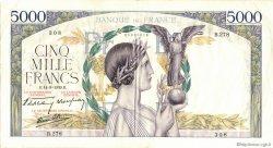 5000 Francs VICTOIRE Impression à plat FRANCE  1939 F.46.10 TTB