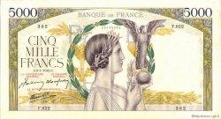 5000 Francs VICTOIRE Impression à plat FRANCE  1942 F.46.32 SUP
