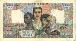 5000 Francs EMPIRE FRANÇAIS FRANCE  1945 F.47.19 TTB