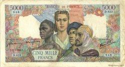 5000 Francs EMPIRE FRANCAIS FRANCE  1945 F.47.26 TB