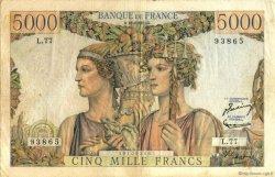 5000 Francs TERRE ET MER FRANCE  1951 F.48.05 TB+