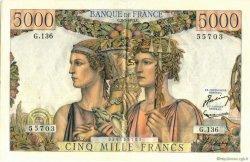 5000 Francs TERRE ET MER FRANCE  1953 F.48.09 SUP