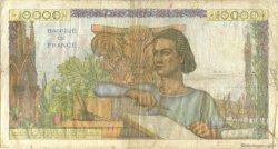 10000 Francs GÉNIE FRANÇAIS FRANCE  1952 F.50.61 B+