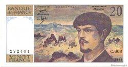 20 Francs DEBUSSY FRANCE  1980 F.66.01 SPL