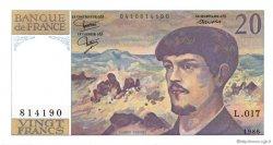 20 Francs DEBUSSY FRANCE  1986 F.66.07 SPL