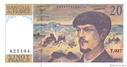20 Francs DEBUSSY à fil de sécurité FRANCE  1990 F.66bis.01 NEUF