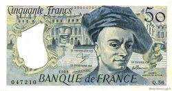 50 Francs QUENTIN DE LA TOUR FRANCE  1989 F.67.15 pr.SPL