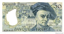 50 Francs QUENTIN DE LA TOUR FRANCE  1992 F.67.18 SPL