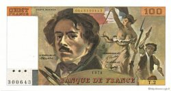 100 Francs DELACROIX FRANCE  1978 F.68.02 SUP