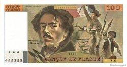 100 Francs DELACROIX modifié FRANCE  1978 F.69.01e SUP