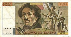 100 Francs DELACROIX modifié FRANCE  1979 F.69.03 pr.TTB