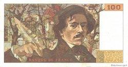 100 Francs DELACROIX modifié FRANCE  1984 F.69.08b TTB+