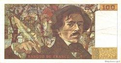 100 Francs DELACROIX imprimé en continu FRANCE  1991 F.69bis.03c1 TTB+