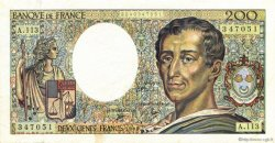 200 Francs MONTESQUIEU FRANCE  1990 F.70.10c TTB