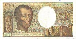 200 Francs MONTESQUIEU alphabet 101 FRANCE  1992 F.70bis.01 TTB+