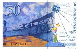 50 Francs SAINT-EXUPÉRY modifié FRANCE  1994 F.73.01a SUP+
