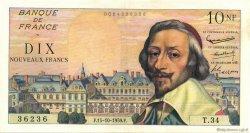 10 Nouveaux Francs RICHELIEU FRANCE  1959 F.57.03 TTB+
