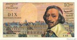 10 Nouveaux Francs RICHELIEU FRANCE  1960 F.57.06 SPL