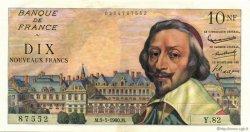 10 Nouveaux Francs RICHELIEU FRANCE  1960 F.57.07 SPL