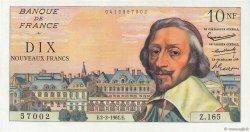 10 Nouveaux Francs RICHELIEU FRANCE  1961 F.57.14 SPL+