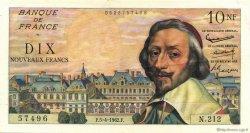 10 Nouveaux Francs RICHELIEU FRANCE  1962 F.57.18 pr.SUP