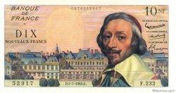 10 Nouveaux Francs RICHELIEU FRANCE  1962 F.57.20 SPL