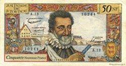 50 Nouveaux Francs HENRI IV FRANCE  1959 F.58.02 pr.TTB