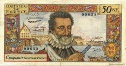 50 Nouveaux Francs HENRI IV FRANCE  1961 F.58.06 pr.TTB