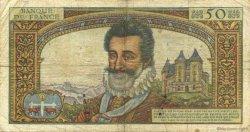 50 Nouveaux Francs HENRI IV FRANCE  1959 F.58.04 B+