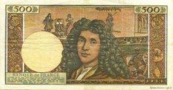 500 Nouveaux Francs MOLIÈRE FRANCE  1966 F.60.09 TTB