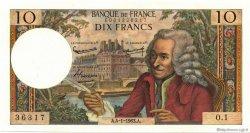 10 Francs VOLTAIRE FRANCE  1963 F.62.01 SUP+