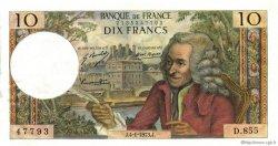 10 Francs VOLTAIRE FRANCE  1973 F.62.60 SUP à SPL
