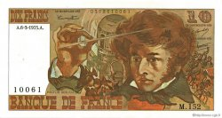 10 Francs BERLIOZ FRANCE  1975 F.63.09 SUP