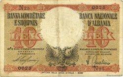 10 Lek ALBANIE  1940 P.11 TTB+