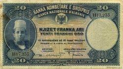 20 Franka Ari ALBANIE  1926 P.03a TB