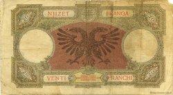 20 Franga ALBANIE  1945 P.13 B à TB