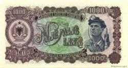1000 Leke ALBANIE  1957 P.32a pr.NEUF