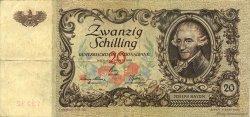 20 Shilling AUTRICHE  1950 P.129a TTB