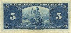5 Dollars CANADA  1937 P.060c TTB