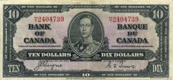10 Dollars CANADA  1937 P.061c TTB+