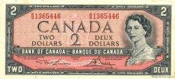 2 Dollars CANADA  1954 P.076d SUP
